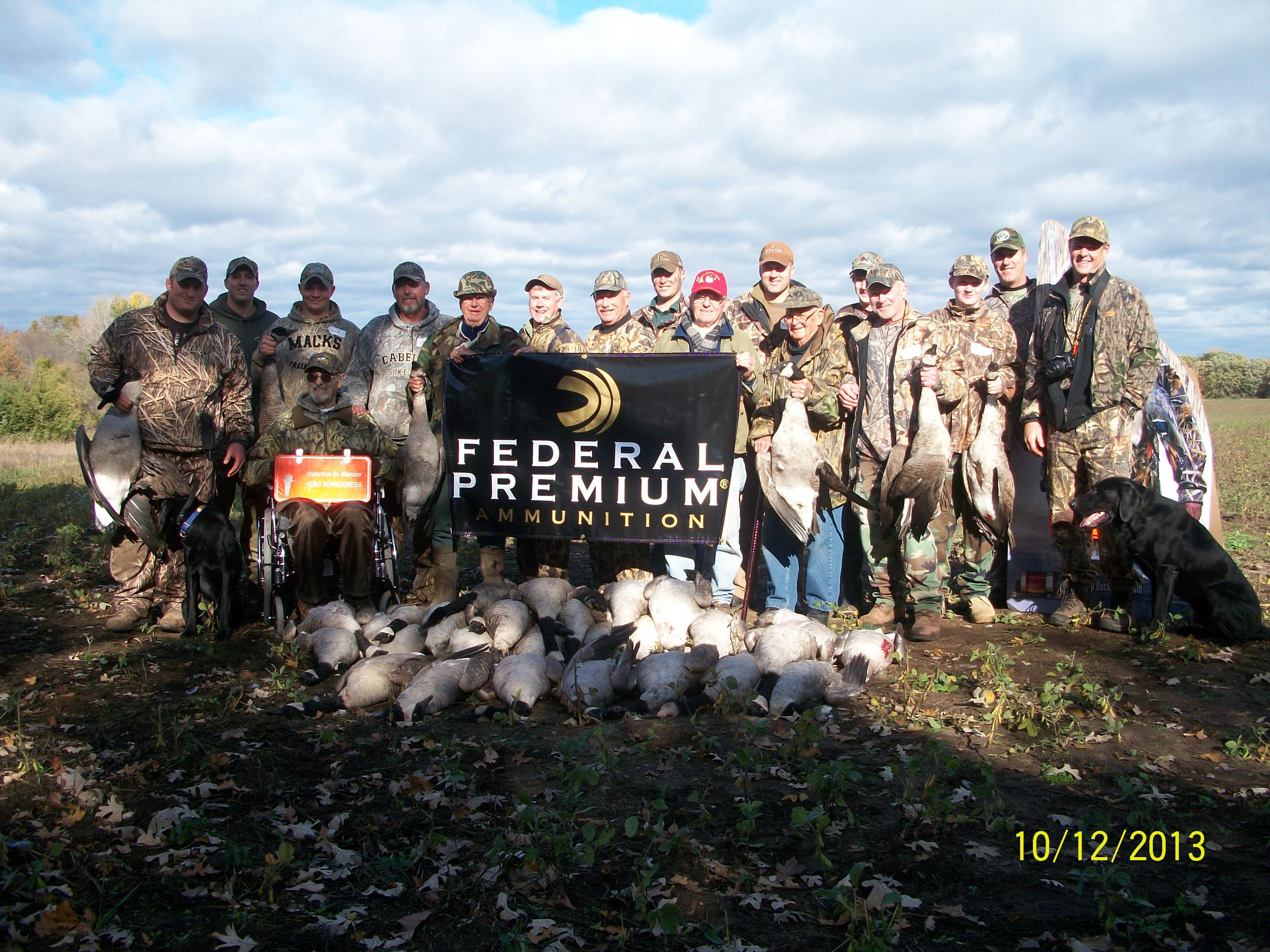 Group of Veterans and harvest 2013