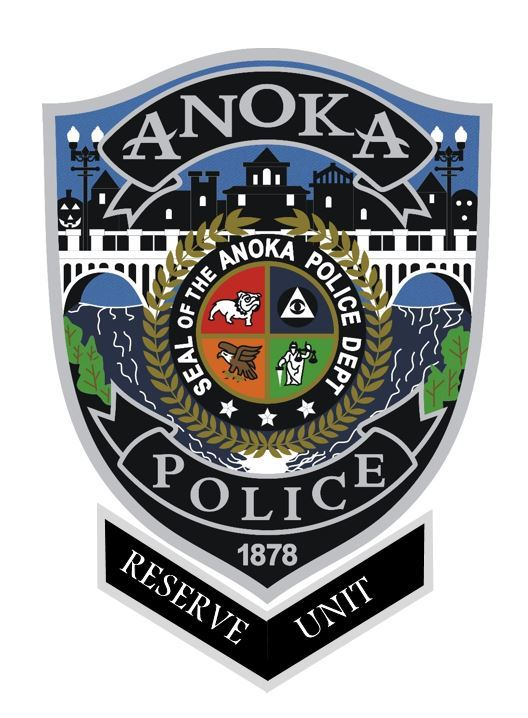 Anoka Police Patch with Reserve Rocker